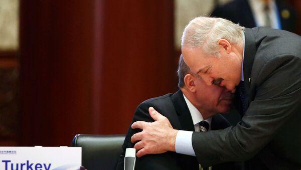 Президенты Беларуси и Турции Александр Лукашенко и Тайип Эрдоган на саммите Форума Пояс и путь (15 мая 2017). Пекин - Sputnik Армения