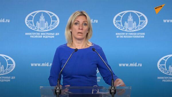 Официальный представитель МИД РФ Мария Захарова во время еженедельного брифинга (23 сентября 2020). Москвa - Sputnik Армения