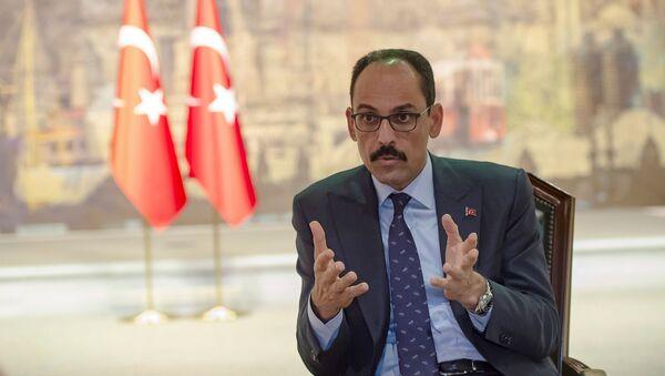 Пресс-секретарь президента Турции Ибрагим Калын во время интервью AFP (19 октября 2019). Стамбул - Sputnik Армения
