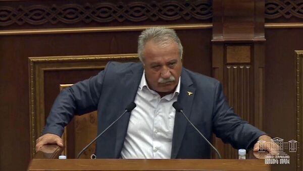 Речь депутата от фракции Мой шаг Сасун Микаелян на специальном заседании парламента Армении (27 сентября 2020). Еревaн - Sputnik Արմենիա