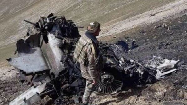 Армянский самолет СУ-25, сбитый турецким истребителем F-16 - Sputnik Армения