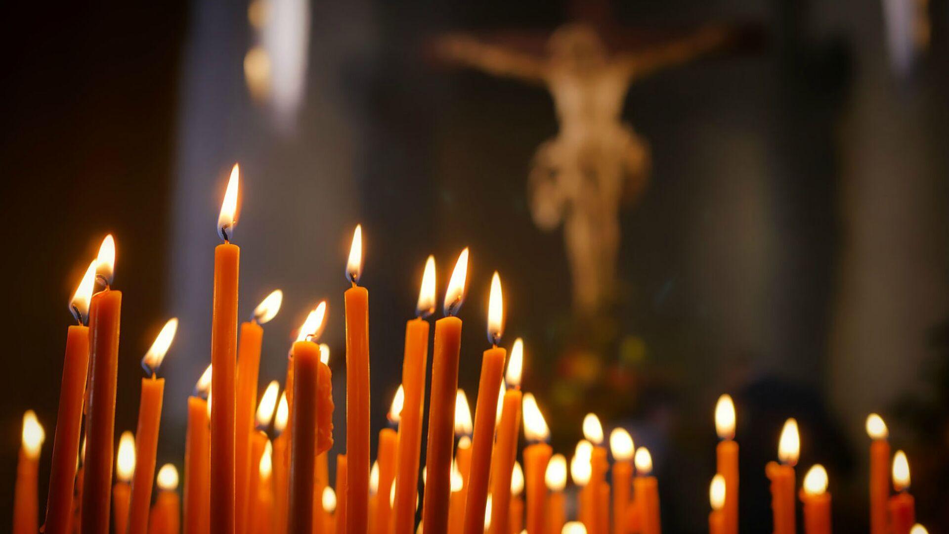 Зажженные свечи  - Sputnik Արմենիա, 1920, 13.04.2021