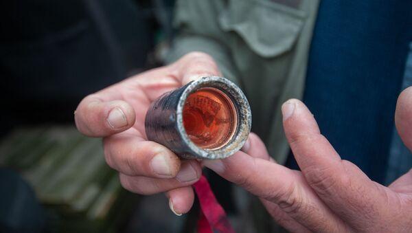 Не взорвавшиеся элементы кассетной ракеты (4 октября 2020). Степанакерт - Sputnik Армения
