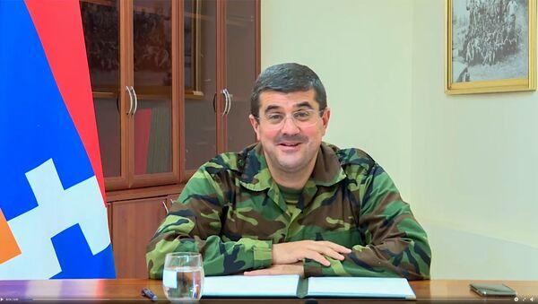 Видеообращение президента Карабаха Араика Арутюняна (4 октября 2020). Карабах - Sputnik Արմենիա