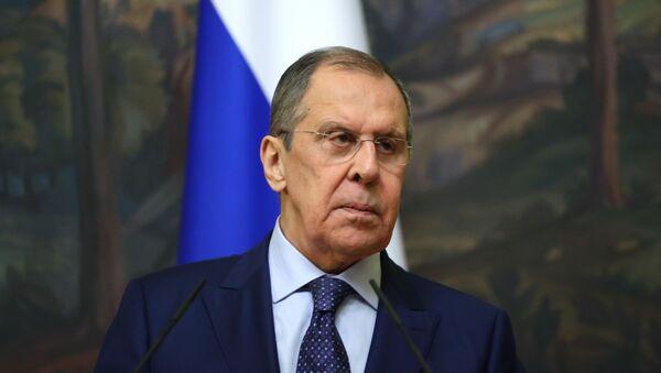 Министр иностранных дел РФ Сергей Лавров на пресс-конференции - Sputnik Արմենիա