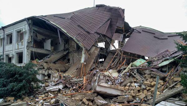 Степанакерт после обстрелов (5 октября 2020). Карабах - Sputnik Армения