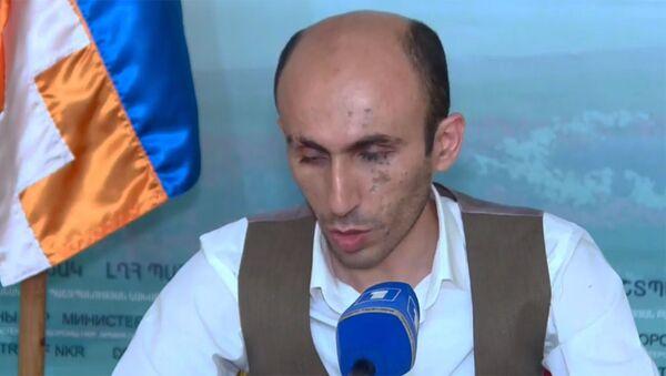 Пресс-конференция омбудсмена Карабаха Артака Бегларяна (5 октября 2020). Степанакерт - Sputnik Армения