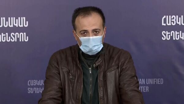 Пресс-конференция министра здравоохранения РА Арсена Торосяна (6 октября 2020). Еревaн - Sputnik Արմենիա