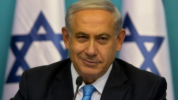 Премьер-министр Израиля Биньямин Нетаньяху во время пресс-конференции (27 августа 2014). Иерусалим - Sputnik Армения