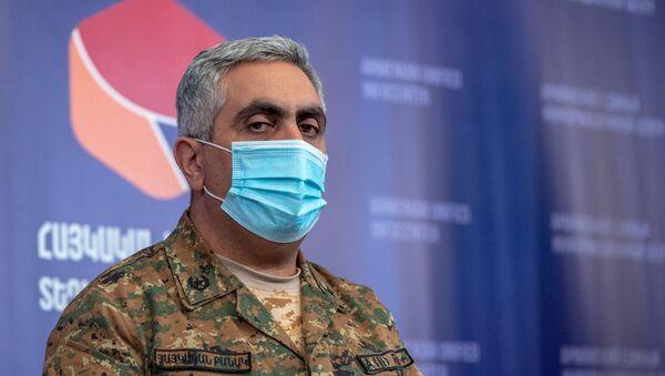 Брифинг представителя минобороны РА Арцруна Ованнисяна (6 октября 2020). Ереван - Sputnik Армения