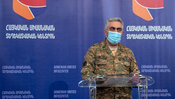 Брифинг представителя минобороны РА Арцруна Ованнисяна (6 октября 2020). Ереван - Sputnik Արմենիա