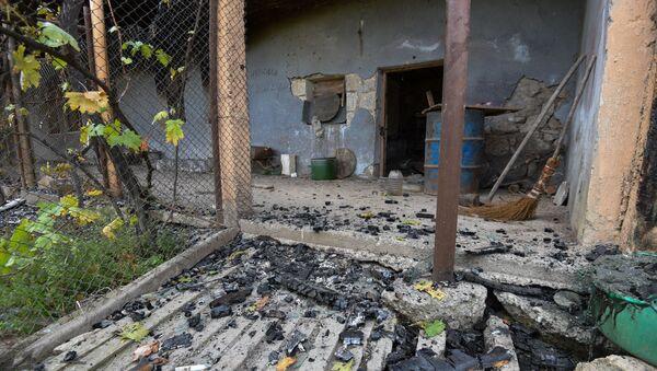 Мартакерт после обстрелов (11 октября 2020). Карабах - Sputnik Армения