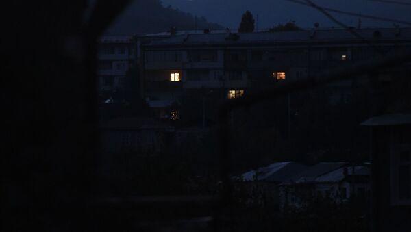 Столица Карабаха ночью (12 октября 2020). Степанакерт - Sputnik Արմենիա