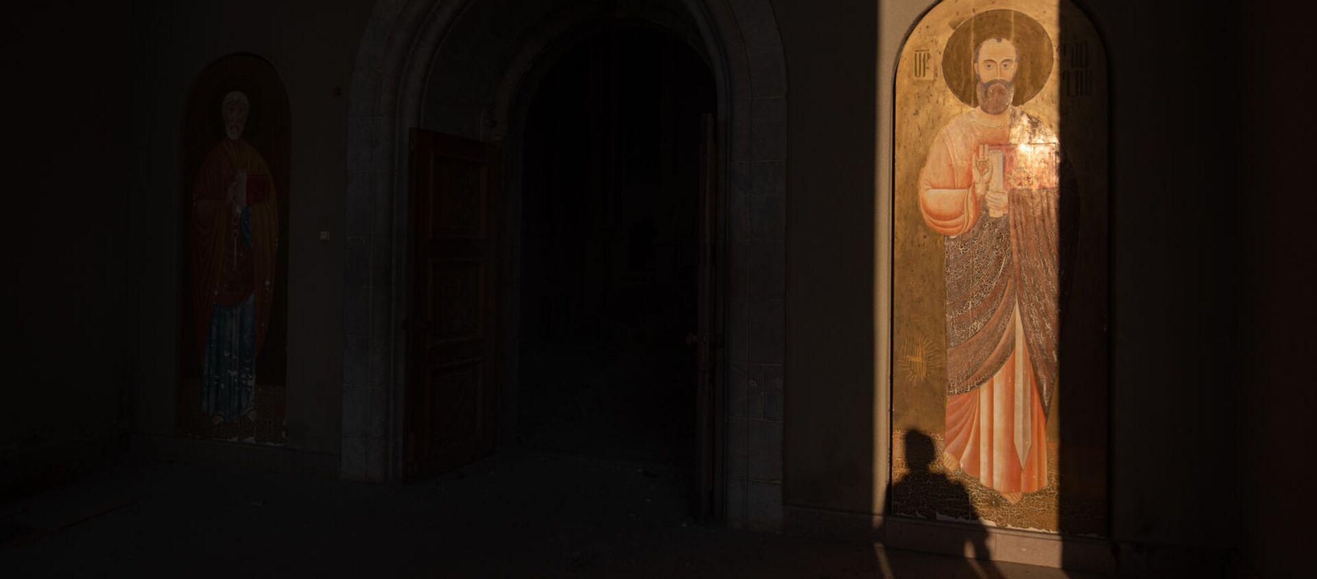 Собор Сурб Аменапркич Казанчецоц (Святого Христа Всеспасителя) в Шуши, Карабах - Sputnik Արմենիա, 1920, 15.07.2021