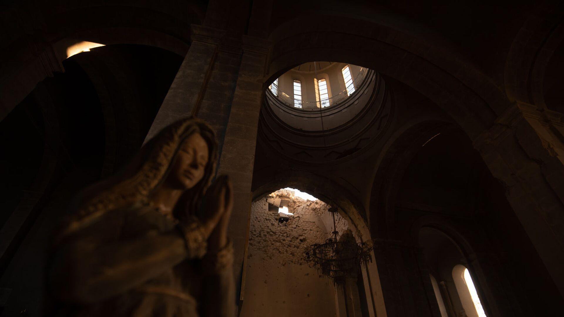 Собор Сурб Аменапркич Казанчецоц (Святого Христа Всеспасителя) в Шуши, Карабах - Sputnik Արմենիա, 1920, 27.04.2021