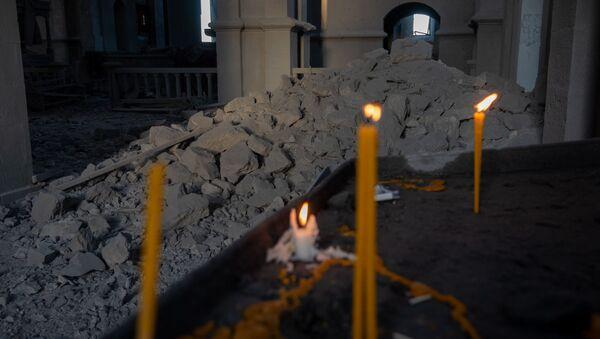 Собор Сурб Аменапркич Казанчецоц (Святого Христа Всеспасителя) в Шуши, Карабах - Sputnik Армения