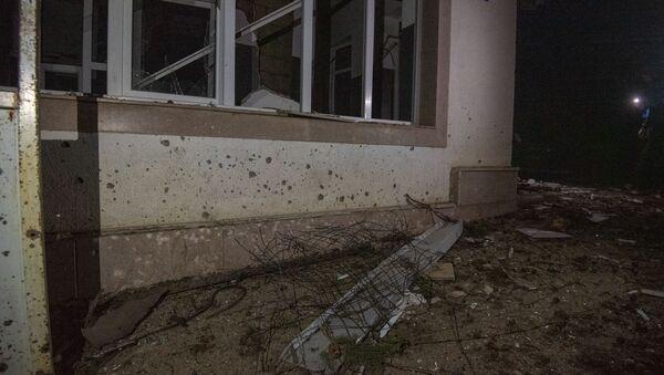 Попавшая под обстрел больница в Мартакерте (14 октября 2020). Карабах - Sputnik Արմենիա