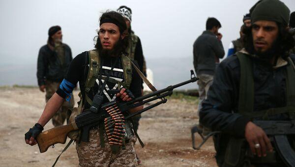 Поддерживаемые Турцией боевики сирийской оппозиции во время битвы за город Шарран, к северу от сирийского города Африн (6 марта 2018). Сирия - Sputnik Արմենիա