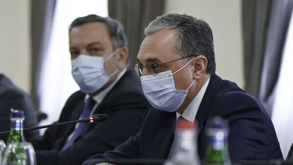 Министр иностранных дел Армении Зограб Мнацаканян (16 октября 2020). Еревaн - Sputnik Армения