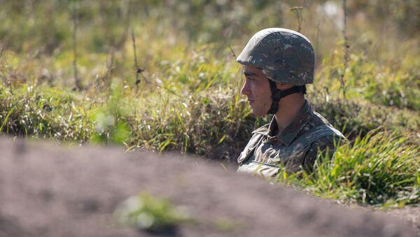 Военнослужащий армии Карабаха - Sputnik Армения