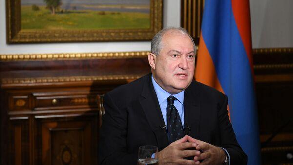 Интервью президента Армена Саркисяна французскому телеканалу France 24 (20 октября 2020). Еревaн - Sputnik Армения