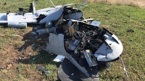 Минобороны Армении предоставило новые кадры сбитого беспилотника - Sputnik Армения