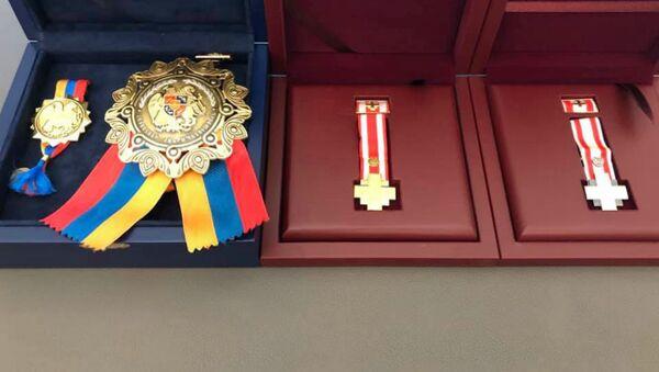 Ордена «Боевой крест» I и II степени и орден Боевой Крест - Sputnik Արմենիա