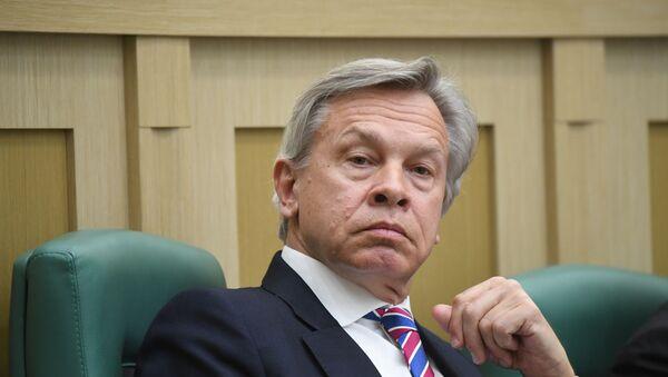 Сенатор, член комитета Совета Федерации по конституционному законодательству и государственному строительству Алексей Пушков - Sputnik Армения