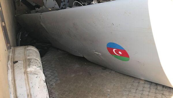 Армия Обороны Карабаха опубликовало новые кадры сбитого турецкого беспилотника Bayraktar ВС Азербайджана - Sputnik Армения