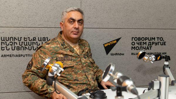 Представитель министерства обороны Армении Арцрун Ованнисян в гостях радио Sputnik  - Sputnik Արմենիա