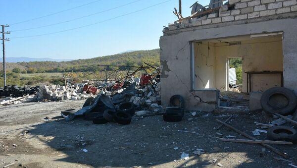 Степанакерт после ночного обстрела (24 октября 2020. Карабах - Sputnik Армения