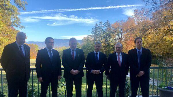 Встреча глав МИД Армении и Азербайджана при посредничестве МГ ОБСЕ (30 октября 2020). Женева - Sputnik Армения