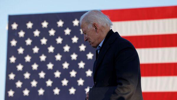 Кандидат в президенты США от Демократической партии и бывший вице-президент Джо Байден на предвыборной кампании в Сент-Поле (30 октября 2020). Миннесота - Sputnik Արմենիա
