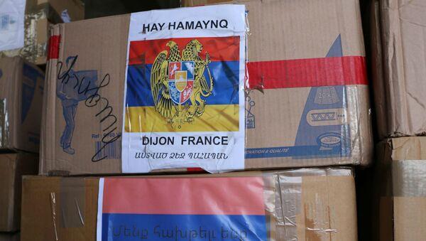 Гуманитарная помощь от армянских общин Марселя и соседних городов (3 ноября 2020).  - Sputnik Արմենիա