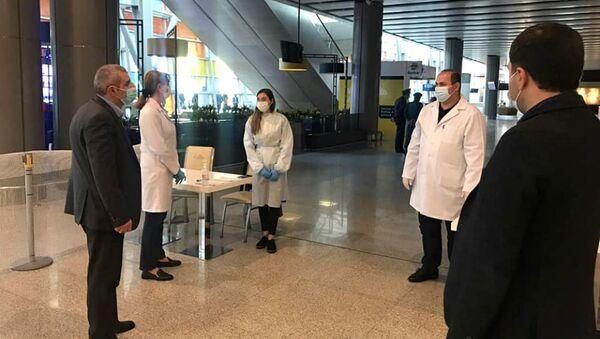 Проверка документов на отрицательный тест на Covid в аэропорту Звартноц и других пунктах пропуска на границе  - Sputnik Армения