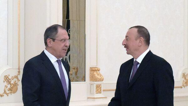 Встреча главы МИД России С.Лаврова и президента Азербайджана И.Алиева в Баку - Sputnik Армения