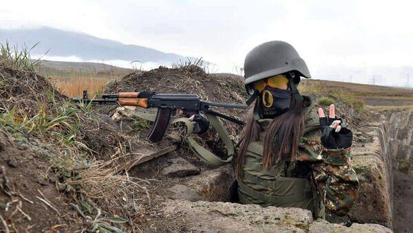Боевые тренировки женского отряда Эрато - Sputnik Армения