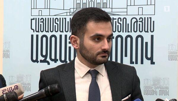 Руководитель Центра общественных связей и информации Оганес Мовсесян отвечает на вопросы журналистов (16 января 2020). Еревaн - Sputnik Արմենիա