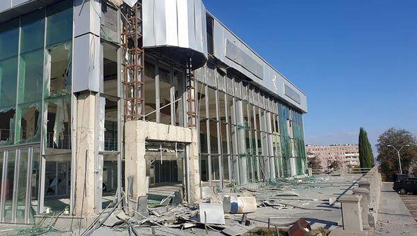 Гражданские инфраструктуры Степанакерта после обстрелов - Sputnik Արմենիա