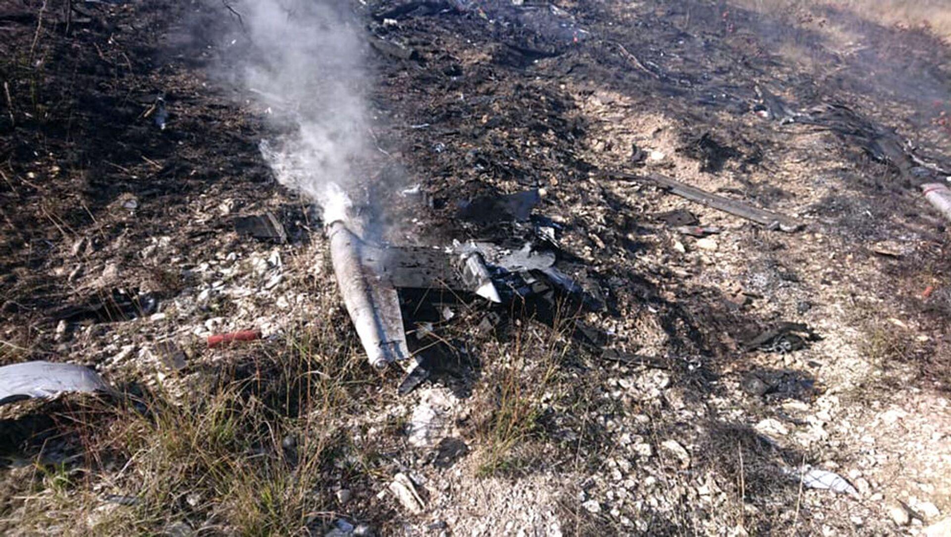 Военнослужащие Армии Обороны Карабаха сбили очередной турецкий беспилотник Bayraktar (8 ноября 2020). Карабах - Sputnik Արմենիա, 1920, 14.08.2021
