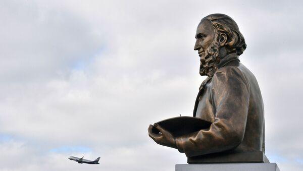 Открытие памятника маринисту И. Айвазовскому в аэропорту Симферополя - Sputnik Արմենիա