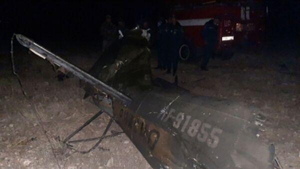 Обломки российского вертолета Ми-24, сбитого в воздушном пространстве над территорией Армении вне зоны боевых действий (9 ноября 2020). Араратская область - Sputnik Армения