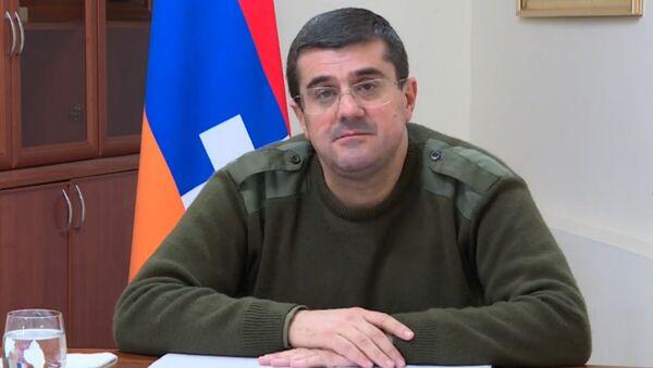 Выступление президента НКР Араика Арутюняна в прямом эфире (10 ноября 2020). Степанакерт - Sputnik Армения