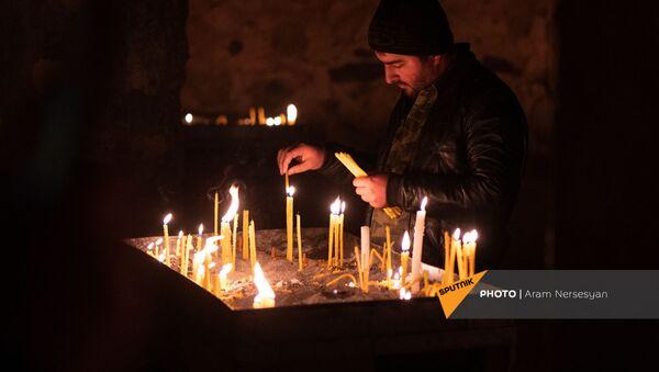 Монастырский комплекс Дадиванк перед вступлением в силу соглашения о передаче земель - Sputnik Արմենիա
