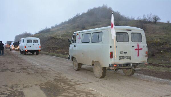ГСЧС Карабаха при содействии российских миротворцев и МККК осуществляет обмен телами солдат  - Sputnik Армения