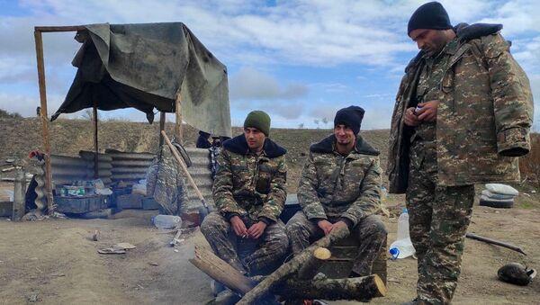 Аскеранское артиллерийское подразделение после прекращения военных действий - Sputnik Армения