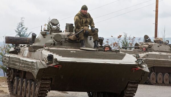 Боевые машины пехоты российских миротворцев в Нагорном Карабахе - Sputnik Армения