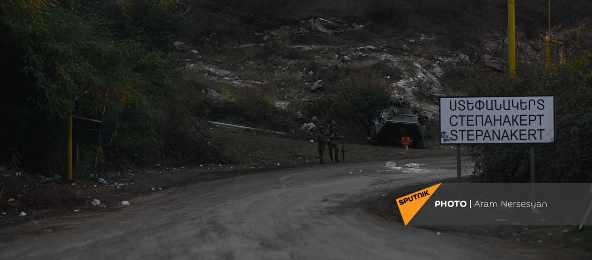 Дорога на подступе к Шуши после окончания военных действий (14 ноября 2020). Карабах - Sputnik Արմենիա, 1920, 09.01.2021