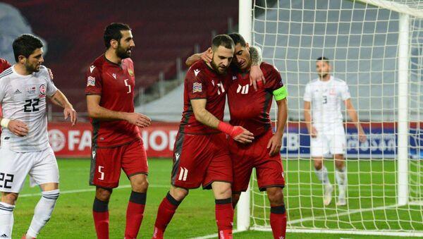 Футбольный матч Лиги Европы между сборными Армении и Грузии (15 ноября 2020). Тбилиси - Sputnik Արմենիա