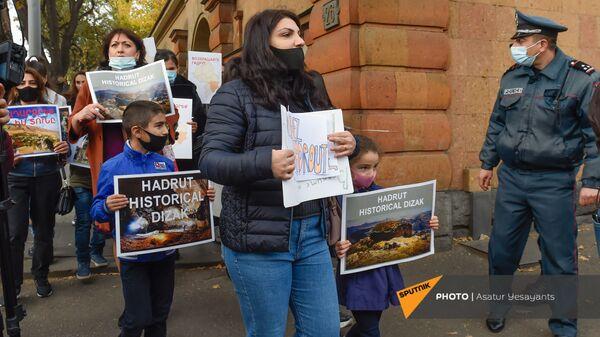 Акция протеста жителей Гадрута (16 ноября 2020). Еревaн - Sputnik Армения